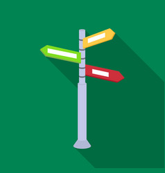 Crossroad sign icon in flat style isolated on vector