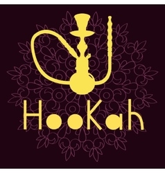 Hookah isolated on purple background vector