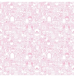 Line wedding white seamless pattern vector