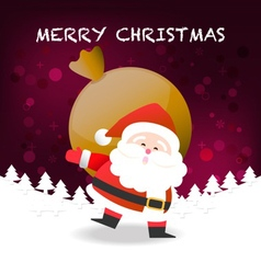 Merry Christmas happy Santa Claus Happy New Year vector image