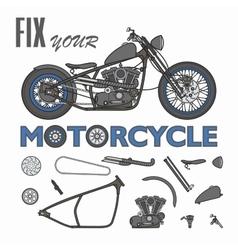 motorcycle creator vector image