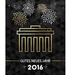 New year 2016 berlin germany brandenburg gate gold vector
