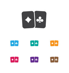 of game symbol on playing vector image vector image