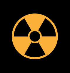 radiation symbol in flat style vector image vector image
