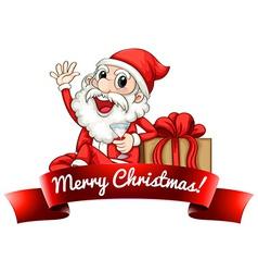 Santa label vector image