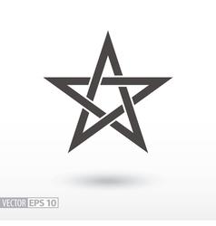 Sign star 5-point celtic star knot pentagram vector