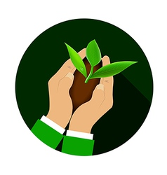 Sprout Hand vector image vector image