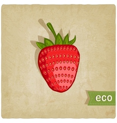 strawberries eco background vector image vector image