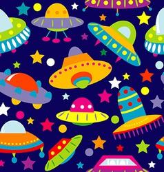 UFO cartoon seamless vector image vector image