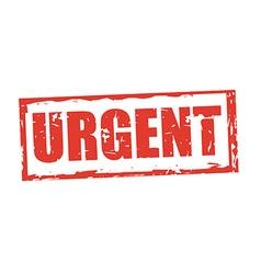 Urgent stamp vector