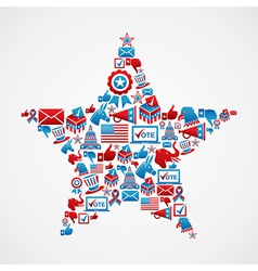 US elections star shape vector image