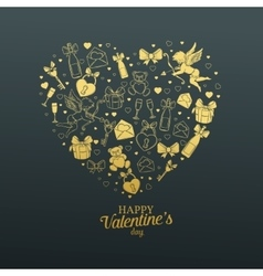 Valentines day gift card vector image