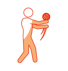 Voleyball player pictogram vector