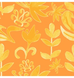 Watercolor pattern floral texture abstract vector