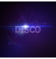 Disco 3d neon sign vector