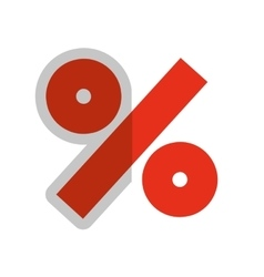 Percent symbol isolated icon vector