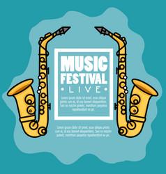 banner music festival live vector image