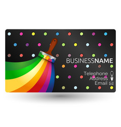 Painting business card vector