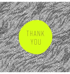 thank you card green label vector image