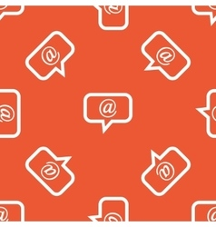 Orange mail message pattern vector