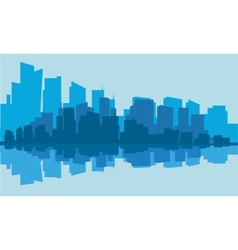 Silhouette of industry with blue background vector image