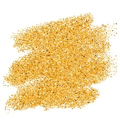 Golden paint stain vector