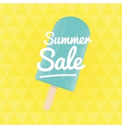 Summer sale triangular background with ice vector