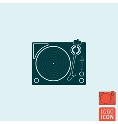 Vinyl record player icon isolated vector