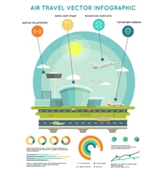 Air travel infographic template with vector