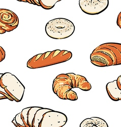 Bread pattern including seamless clipart vector