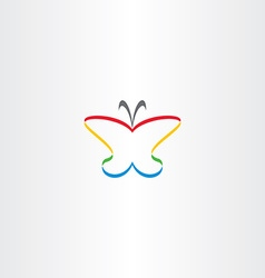 Butterfly icon colorful logo vector