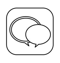 Figure round chat bubbles icon vector