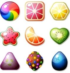 Fruit candies vector