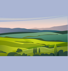 green valley landscape vector image