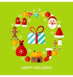 Happy Holidays Flat Concept vector image