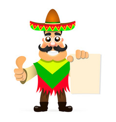 Hot mexican sombrero vector