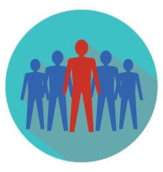 Leadership concept teamwork vector