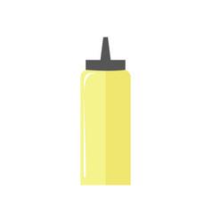 Mayonnaise bottle simple flat vector