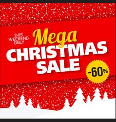 mega christmas sale banner vector image vector image