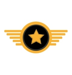 Pilot plane emblem wings vector