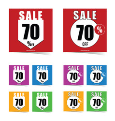 poster of sale 70 percent off set in color art vector image vector image