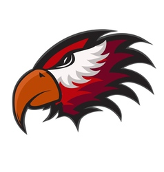Professional sports logo hawks vector