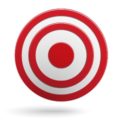 Red round darts target aim isolated vector