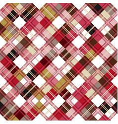 Seamless tartan pattern checkered colorful pnk vector