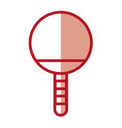 Shadow ping pong racket vector
