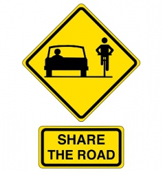 share the road vector image