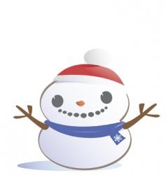 snow boy vector image vector image