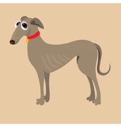 South russian hound of a dog vector