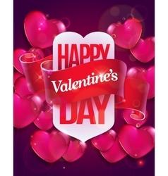 Valentine day flyer vector
