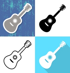 Various guitar cards vector image